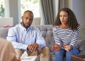 Marriage Counseling in Minneapolis. A couple participates in therapy